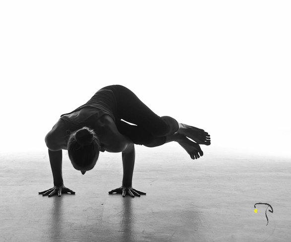 Emily Seymour yoga education side crow pose