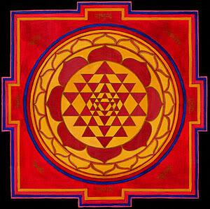 Red Sri Yantra
