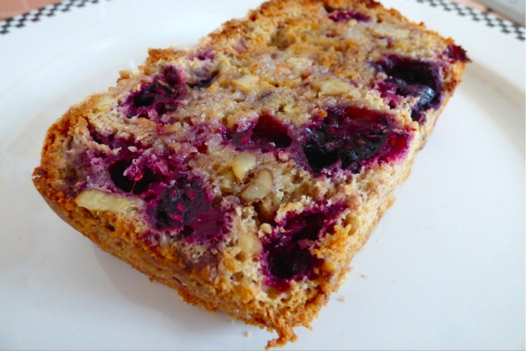 Berry Walnut Muffin Bread Slice
